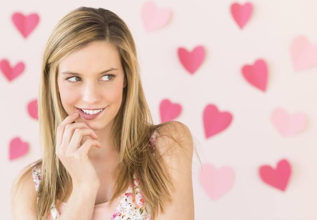 Взгляд влюбленной девушки