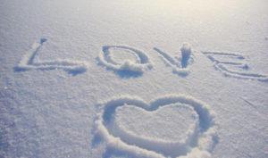 Признание в любви на снегу