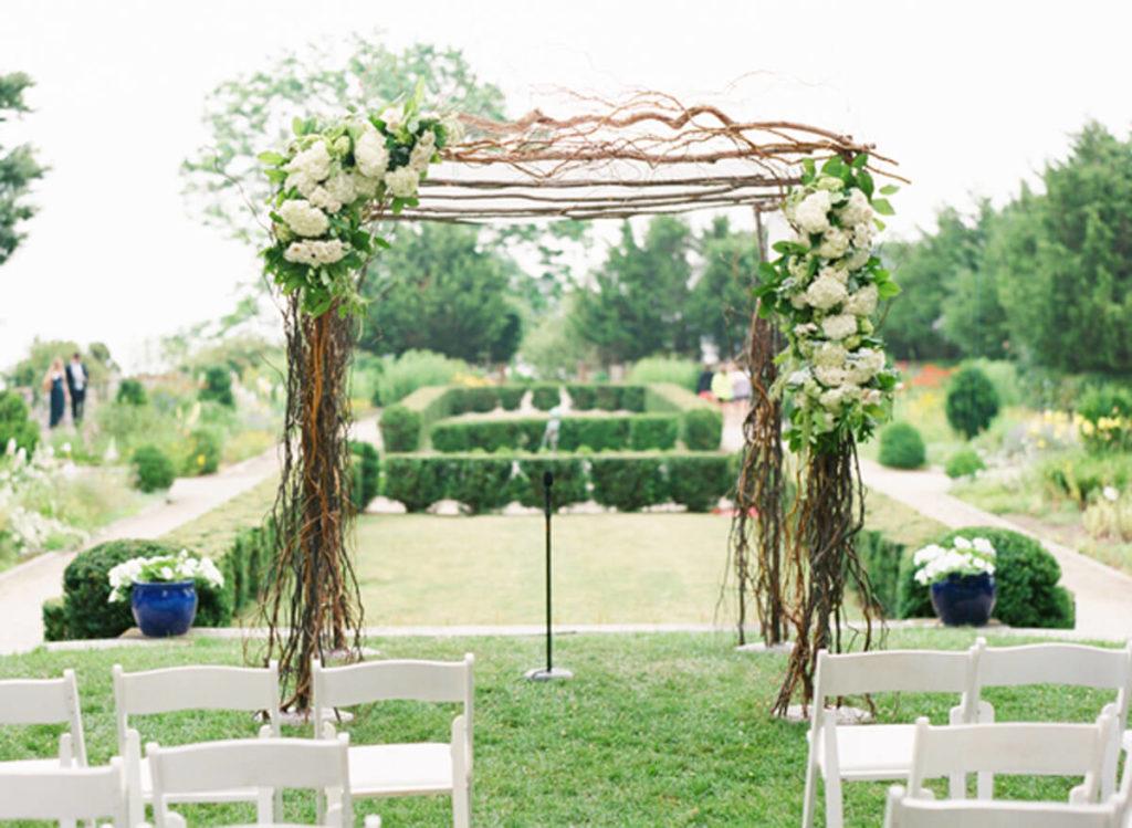 Квадратная свадебная арка