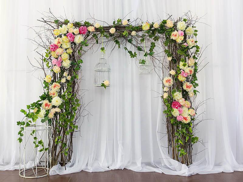 Свадебная арка в эко стиле