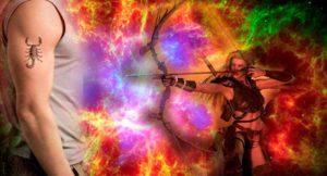 Мужчина-Скорпион и женщина-Стрелец