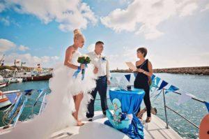 Бракосочетание на катере
