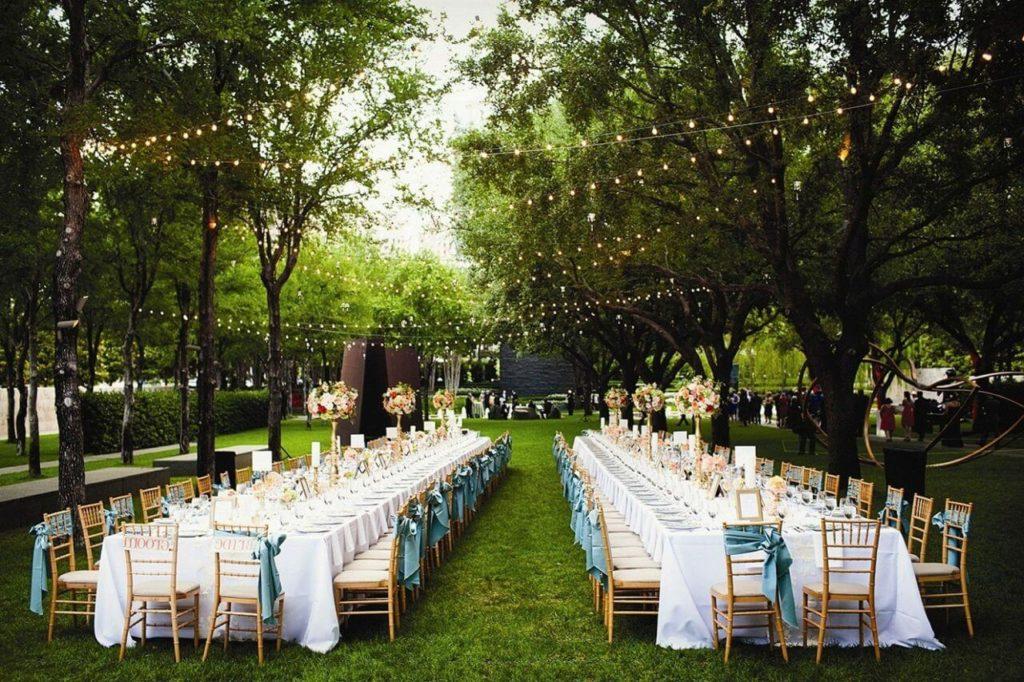 Организация свадьбы на свежем воздухе