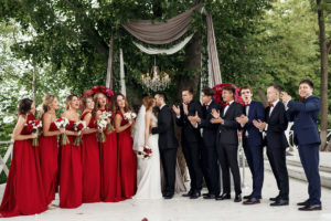 Свадьба в винном цвете