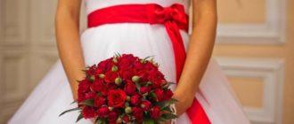 Свадебный букет с бордовыми розами