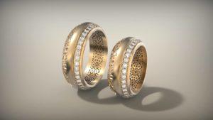 Венчальные кольца с бриллиантами