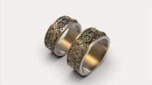 Венчальные парные кольца