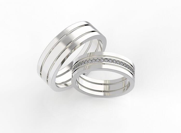 Венчальные серебряные кольца