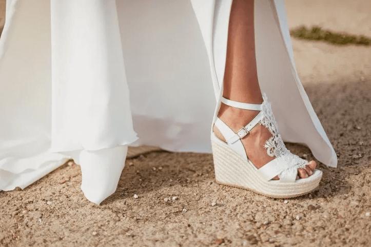 Свадебные босоножки на платформе