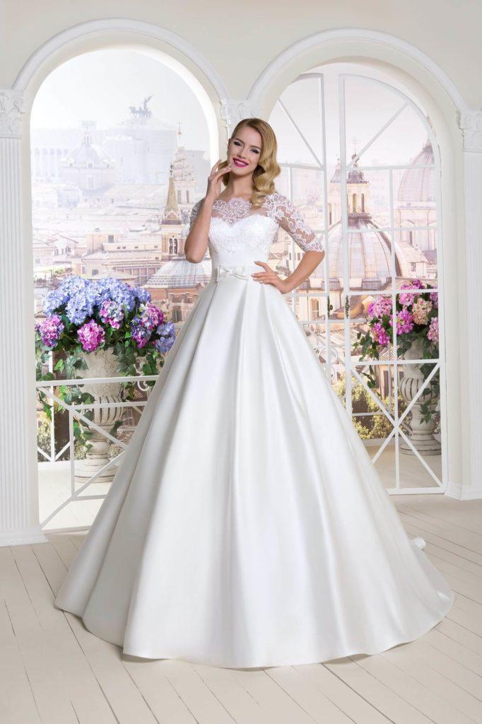 Атласное свадебное платье, вариант 11