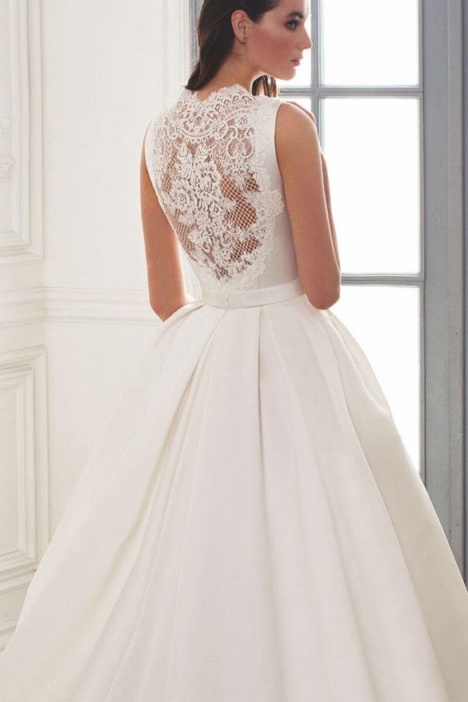 Атласное свадебное платье, вариант 14