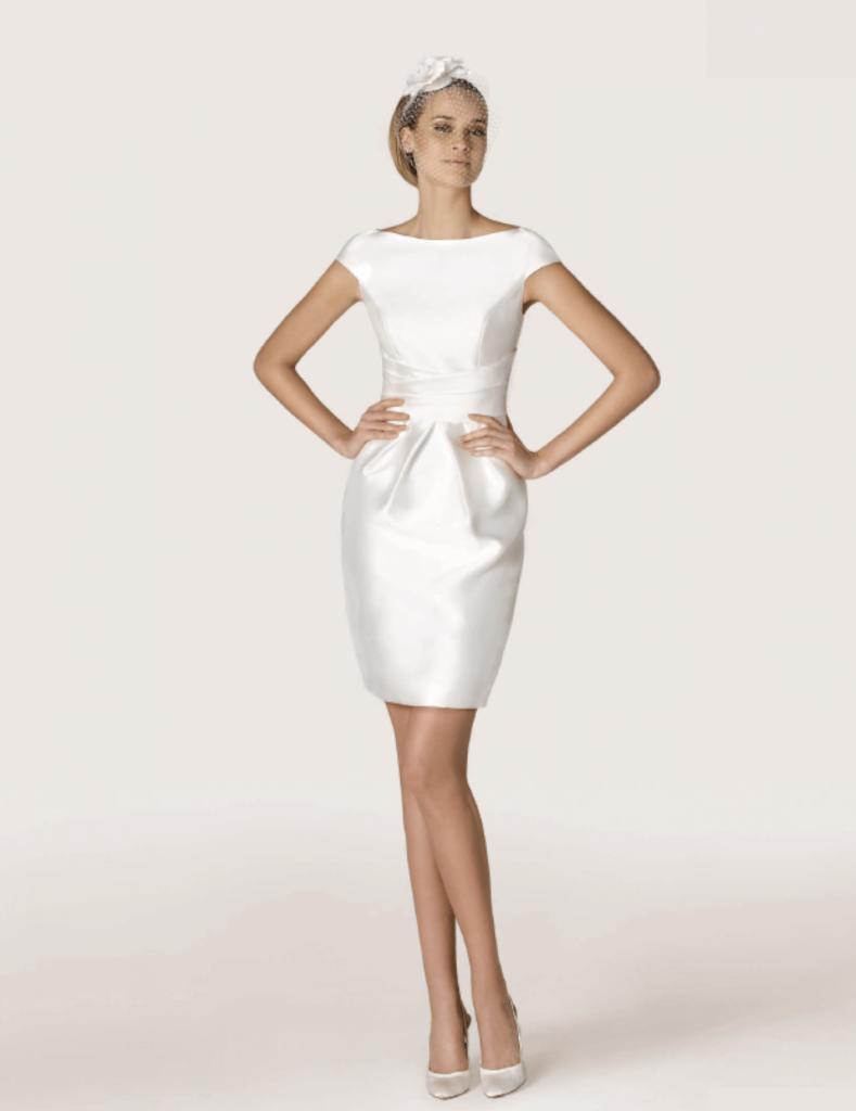 Атласное свадебное платье, вариант 3