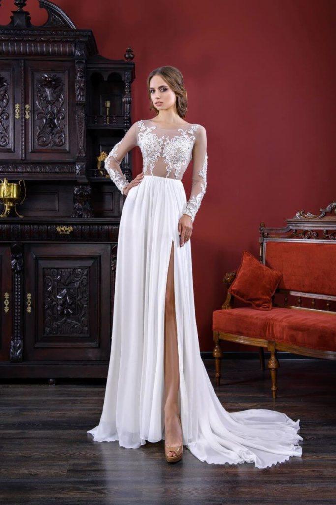 Атласное свадебное платье, вариант 5