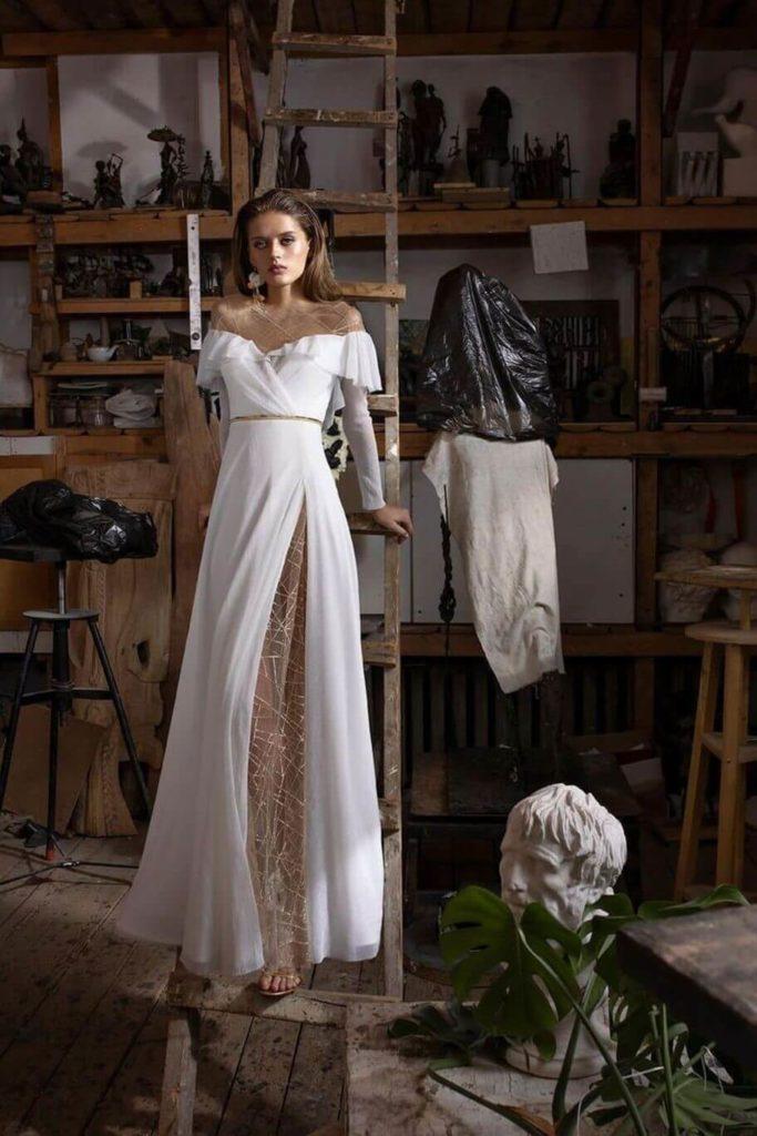 Атласное свадебное платье, вариант 6
