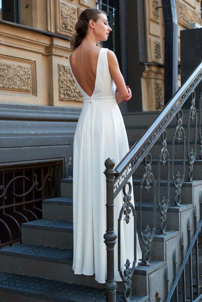 Атласное свадебное платье, вариант 9