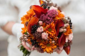 Оранжевый букет невесты, вариант4