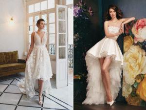 Свадебное платье-каскад