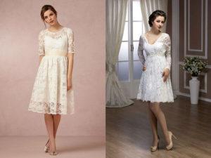 Свадебное платье-мини