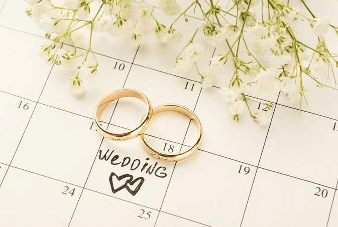 Дата подачи заявления и свадьбы