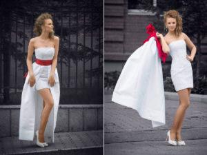 Свадебное платье с юбкой-трансформером