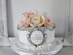 Торт на годовщину 25 лет