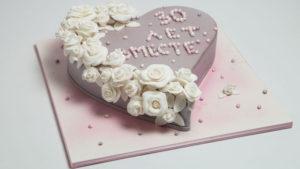 Торт на 30 годовщину свадьбы