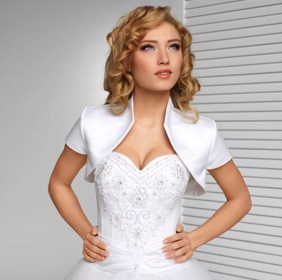 Болеро в сочетании с платьем